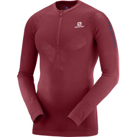 Salomon M's Exo Motion Half Zip LS Tee Biking Red